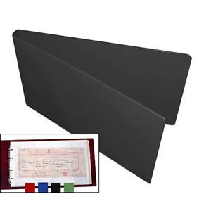 Certificate Folder & 10 Free Polypockets - Black